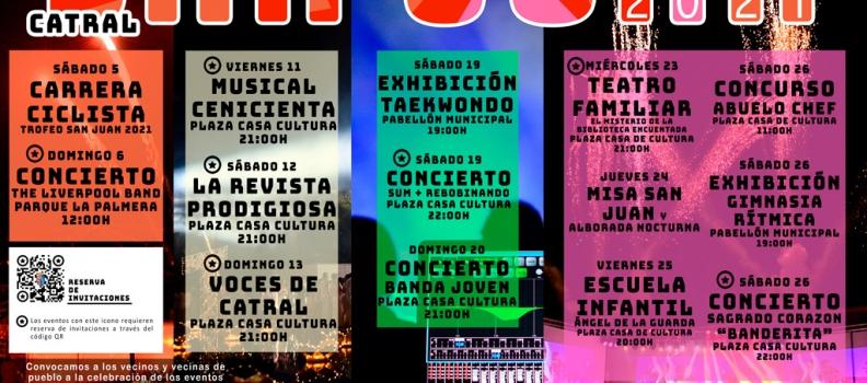 Programa fiestas patronales San Juan 2021